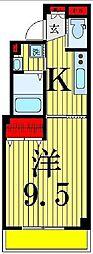 東京都足立区青井2丁目の賃貸マンションの間取り