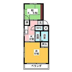 サンハイツ岩塚 A棟[3階]の間取り