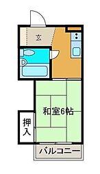 小島コーポ[0103号室]の間取り