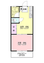 小川ハイツ[2階]の間取り