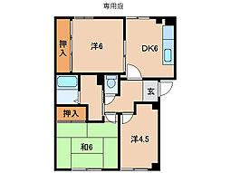 ビレッジキシA棟[1階]の間取り