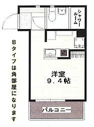 沖縄都市モノレール 古島駅 徒歩1分の賃貸アパート 2階ワンルームの間取り