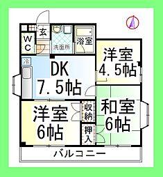 エクセル中央林間2[2階]の間取り