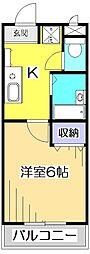 ローレル恋ヶ窪[2階]の間取り