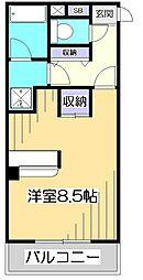 東京都国分寺市本多3丁目の賃貸マンションの間取り