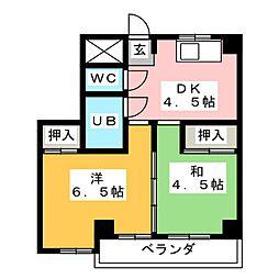 山の手荘[4階]の間取り
