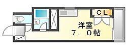 香川県高松市西宝町3丁目の賃貸マンションの間取り