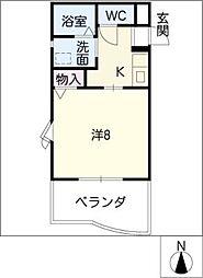 ドゥウェル五軒家[2階]の間取り