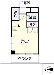 東口マンション[3階]の間取り