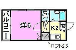 アロッジオ桜ヶ丘[205号室]の間取り