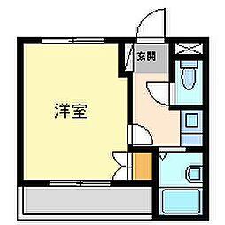 フォンテーヌ武庫之荘[3階]の間取り