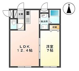 札幌市電2系統 西線11条駅 徒歩3分の賃貸マンション 3階1LDKの間取り