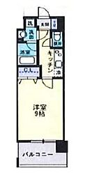 岡山電気軌道清輝橋線 東中央町駅 徒歩3分の賃貸マンション 11階1Kの間取り