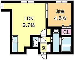 北海道札幌市北区北二十条西3丁目の賃貸マンションの間取り