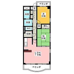 クレストサンライズ[2階]の間取り