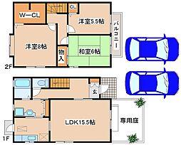 [テラスハウス] 兵庫県神戸市西区竜が岡2丁目 の賃貸【/】の間取り