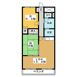 クレール広里[1階]の間取り