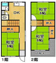 [一戸建] 大阪府大阪市大正区泉尾2丁目 の賃貸【/】の間取り