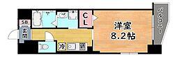 阪急神戸本線 六甲駅 徒歩9分の賃貸マンション 4階1Kの間取り