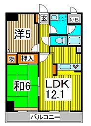 南浦和パインマンション[3階]の間取り