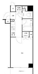 JR山手線 大塚駅 徒歩5分の賃貸マンション 6階1Kの間取り