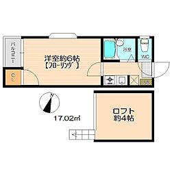 DWELL地行II[1階]の間取り