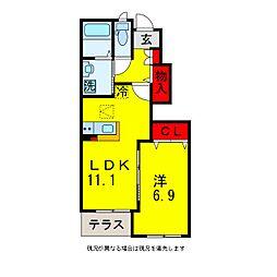 市原市青柳新築アパート[1階]の間取り
