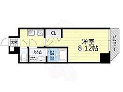 アート桜ノ宮 8階1Kの間取り