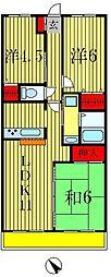 エクセレンス松戸参番館[3階]の間取り
