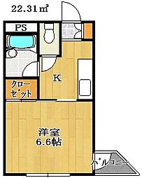 メゾンダジュール12番館[2階]の間取り