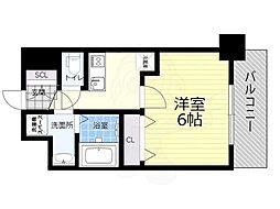 JR関西本線 JR難波駅 徒歩10分の賃貸マンション 7階1Kの間取り