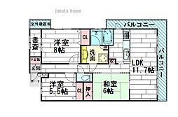 藤和ライブタウン茨木南春日丘4番館カルミア[3階]の間取り