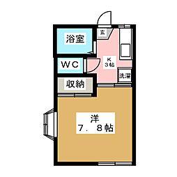 コンフォートドーバ[1階]の間取り
