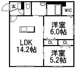 仮称)本通13S[2階]の間取り