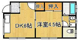 上田ハイツ[2階]の間取り