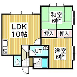 クリスタルハーモニー6[1階]の間取り