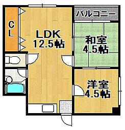 大正三井マンション[5階]の間取り