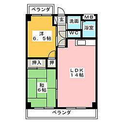 エントピアヤダ[2階]の間取り