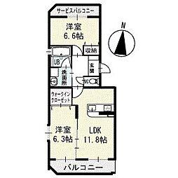 K−スクエア 1階[102号室]の間取り