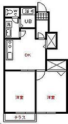 メゾンイーストⅡ 1号館[1階]の間取り