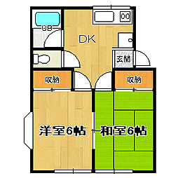 sitia成田[101号室]の間取り