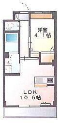 新築物件 カウンターキッチン付の日当たりの良いお部屋です。[1階]の間取り