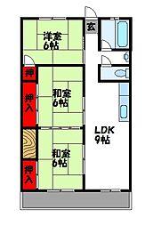 第一吉原ビル[3階]の間取り