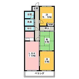 トレンディイマ1[2階]の間取り