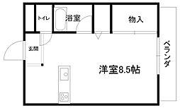 プチメゾンFuji[203号室]の間取り