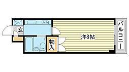 ジュネス姫路II[603号室]の間取り