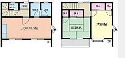 [テラスハウス] 神奈川県藤沢市辻堂元町2丁目 の賃貸【/】の間取り