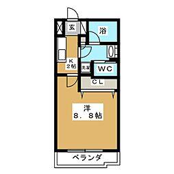 リビングステージ木町通[5階]の間取り