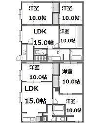 [一戸建] 北海道札幌市西区西野六条10丁目 の賃貸【/】の間取り