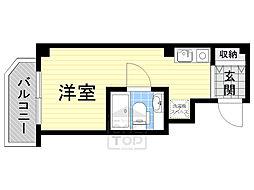 Osaka Metro谷町線 野江内代駅 徒歩4分の賃貸マンション 4階ワンルームの間取り